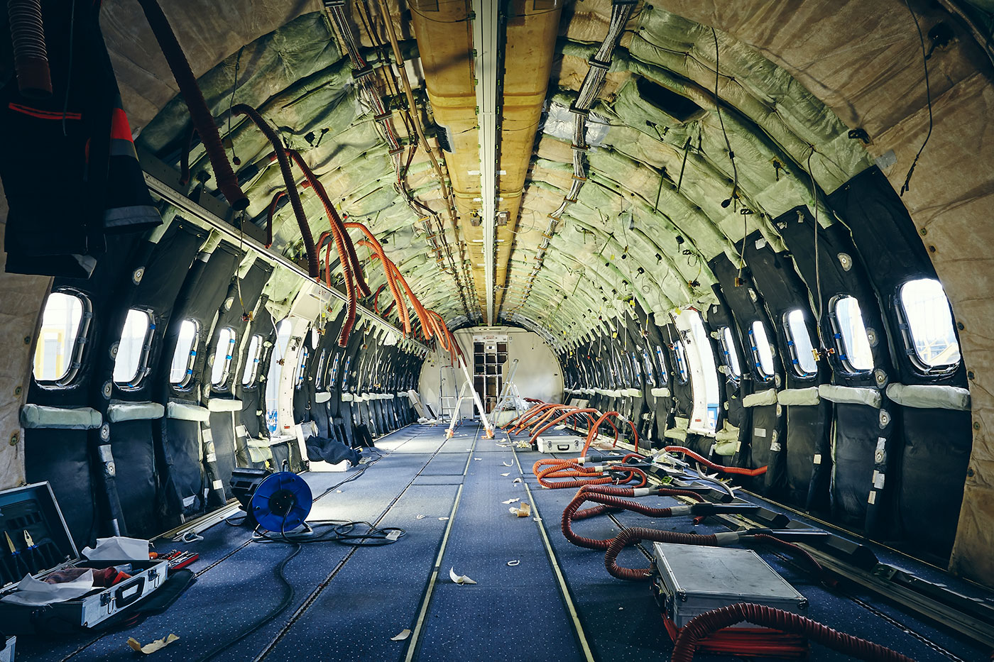 Flugzeug Laderaum